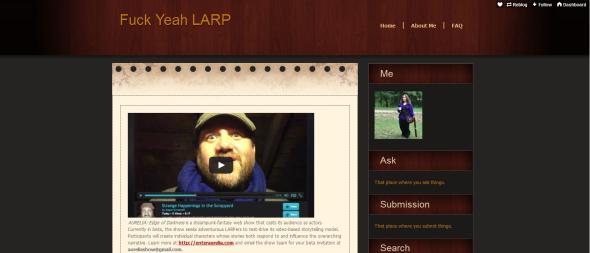 Aurelia Featured in LARPing Blog!