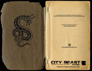"""Inside from cover of the """"AURELIA BESTIARY, Vol. 1"""""""